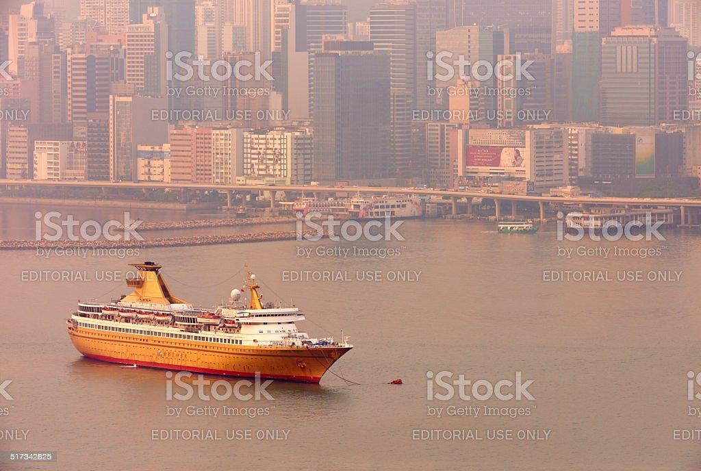 Casino Ship in Hong Kong stock photo
