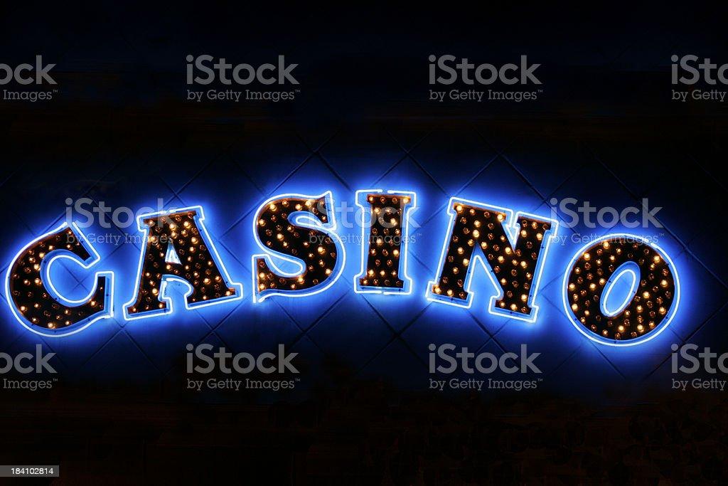 casino sign stock photo