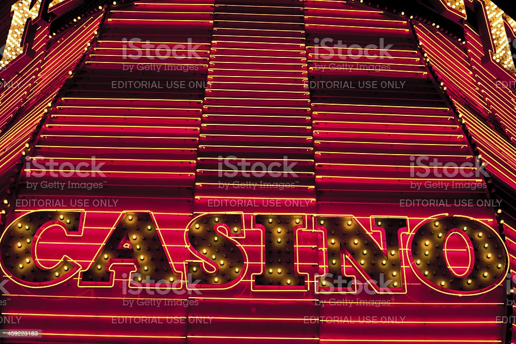 Casino sign royalty-free stock photo