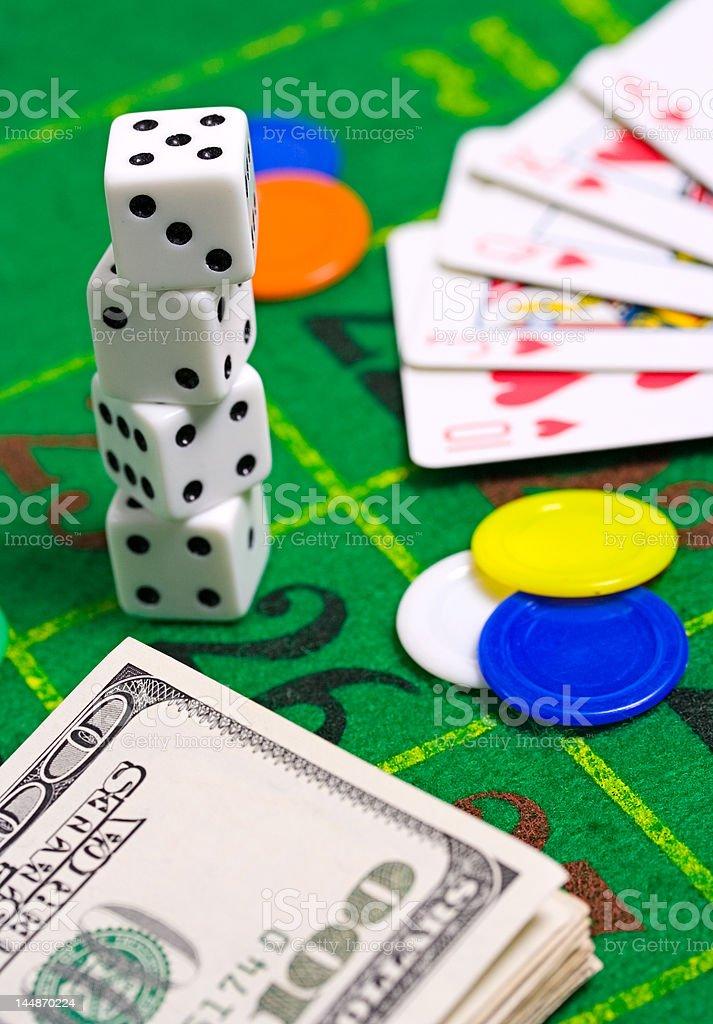 Casino still life stock photo