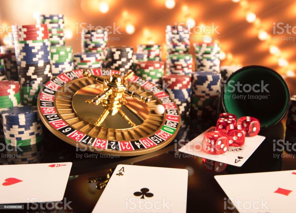 Casino theme stock photo