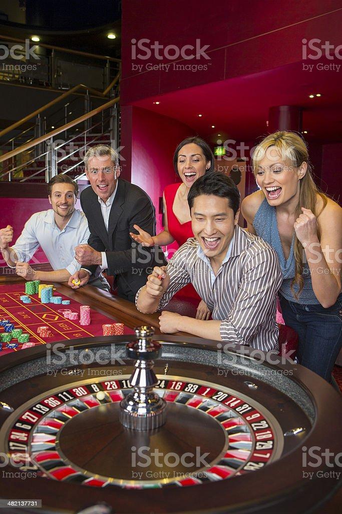 Casino Winners royalty-free stock photo