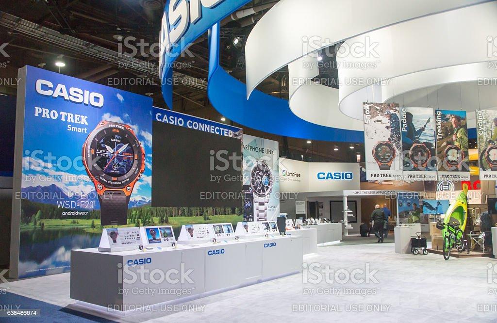 Casio Exhibit at CES 2017 stock photo