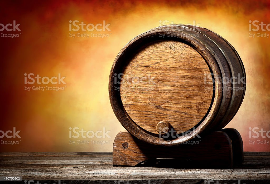 Cask on a stand stock photo