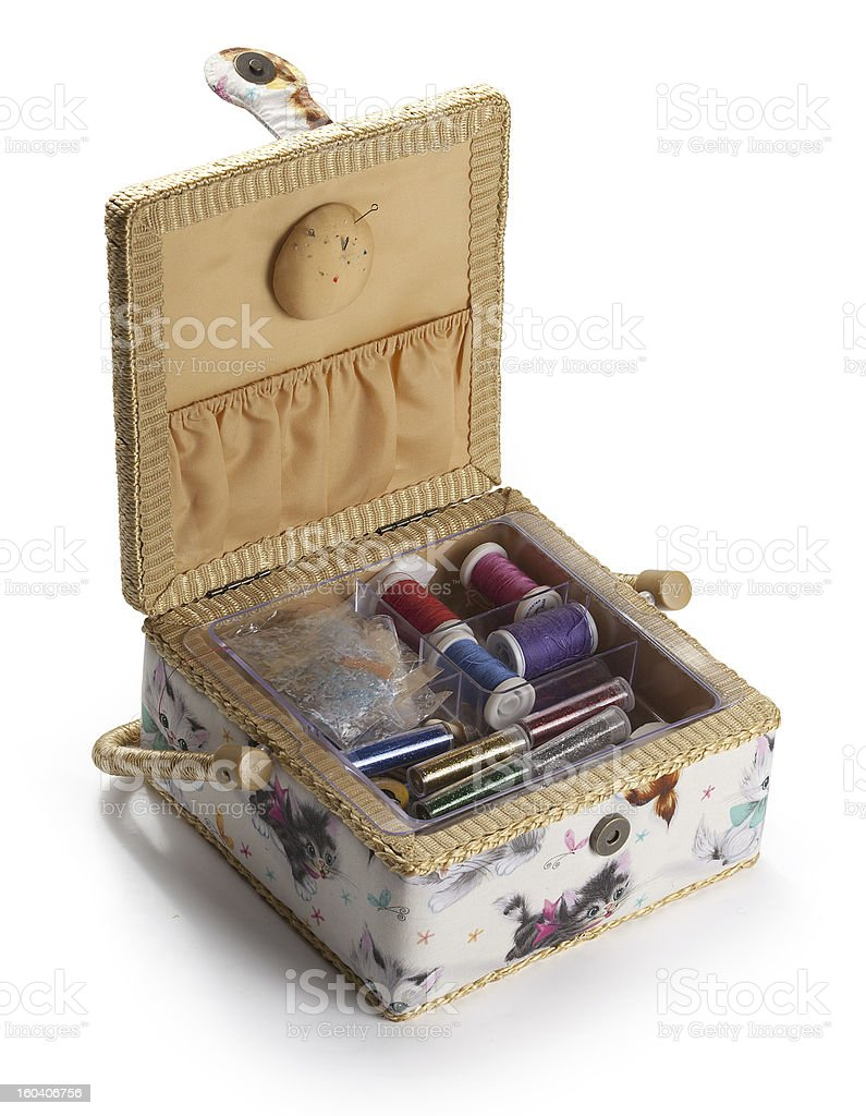 Casket for sewing royalty-free stock photo