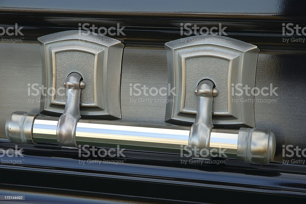 Casket Handle royalty-free stock photo