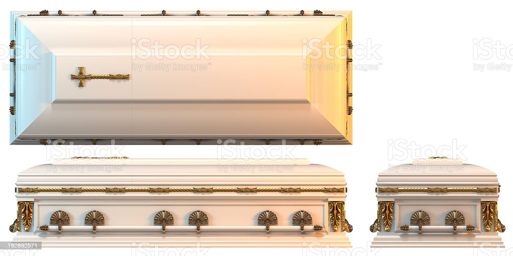 Casket royalty-free stock photo