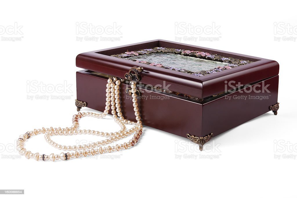 Casket with jewelry royalty-free stock photo
