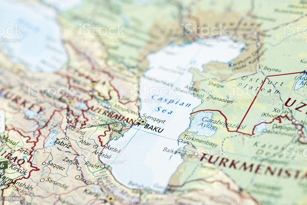 Caspian Sea stock photo
