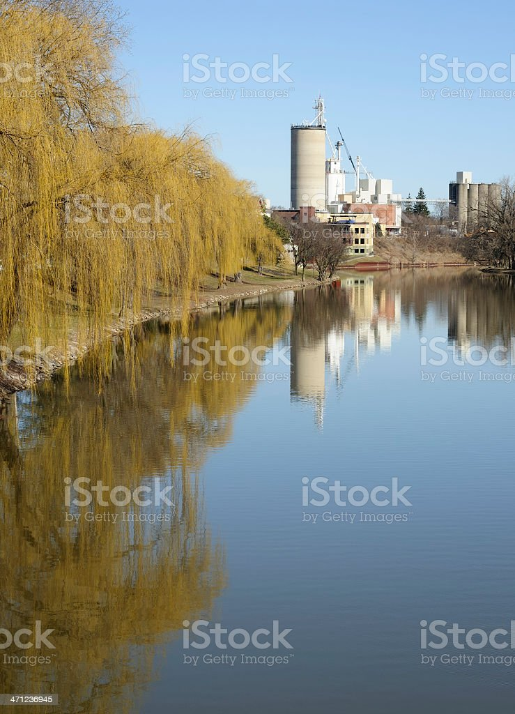 Cass River, Frankenmuth stock photo