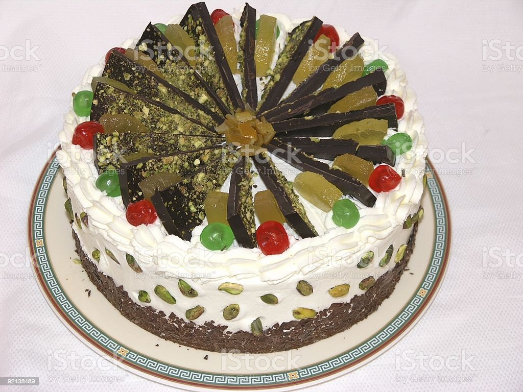 Cassata Cake royalty-free stock photo