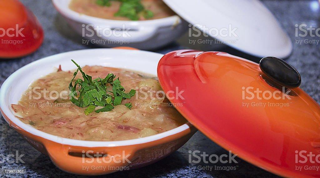 cassava soup stock photo
