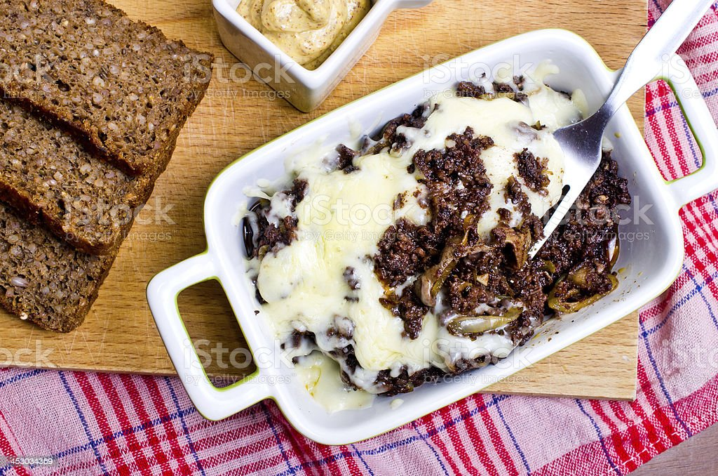 Casserole made for black pudding royalty-free stock photo