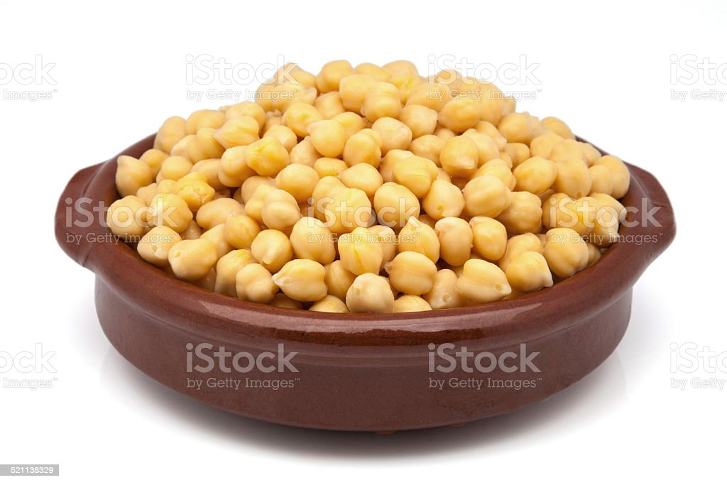 casserole of chickpeas cooked stock photo