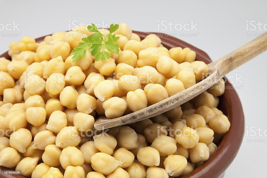 casserole of chick-peas royalty-free stock photo