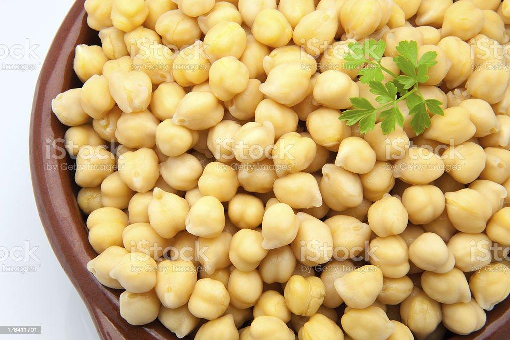 casserole of chick-peas stock photo