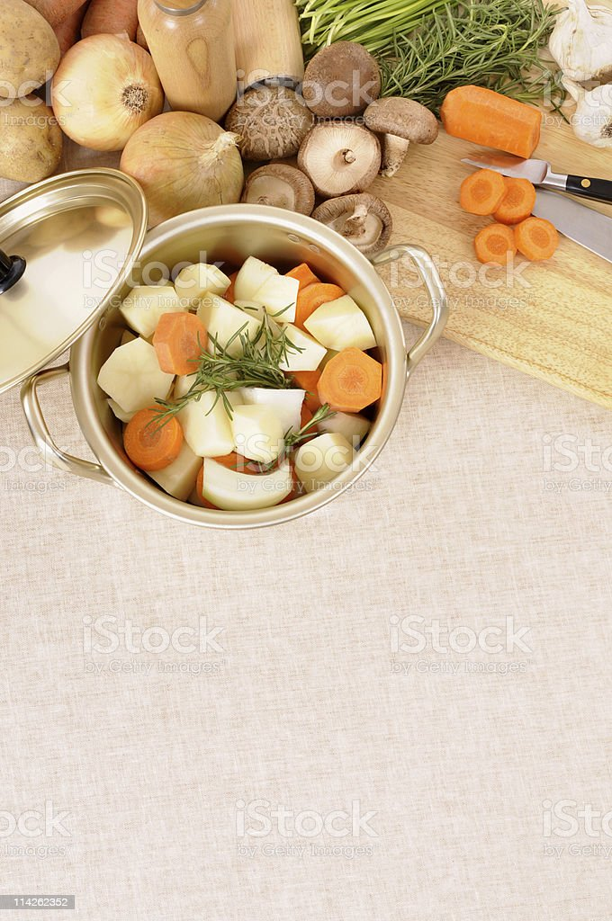 Casserole with organic vegetables royalty-free stock photo