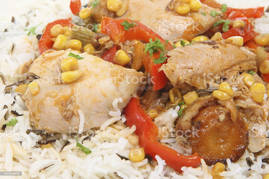 Casseroled Chicken & Rice royalty-free stock photo
