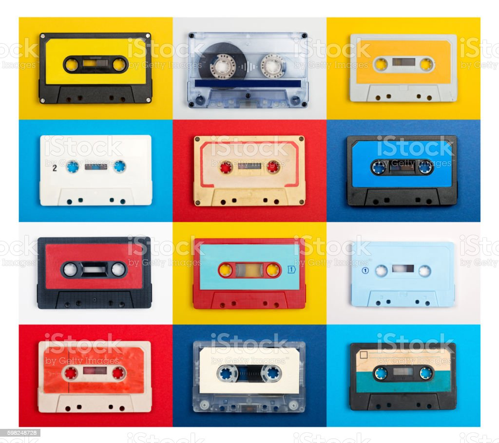 Cassette Tape Collection stock photo