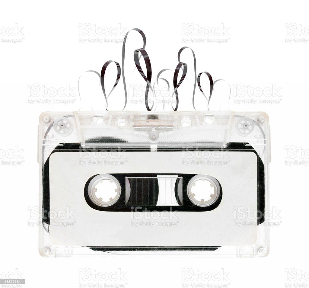 Cassette Tape isolated on white background royalty-free stock photo
