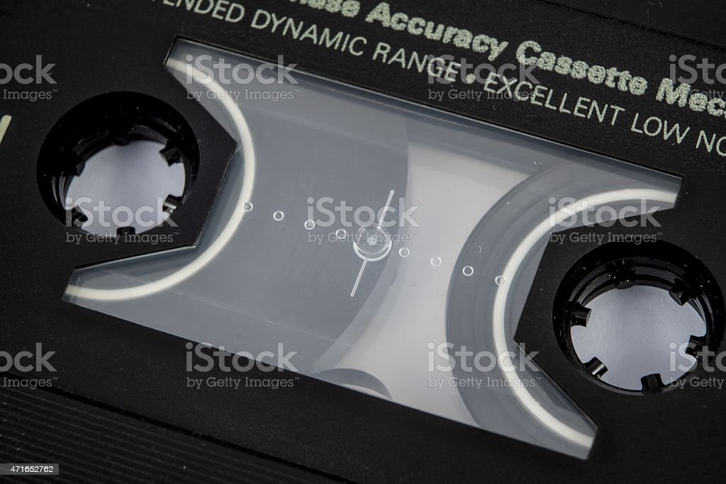 cassette tape isolated stock photo