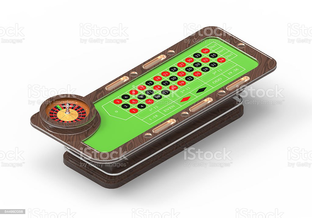 Cassino Roulette 3d Table Isometric stock photo