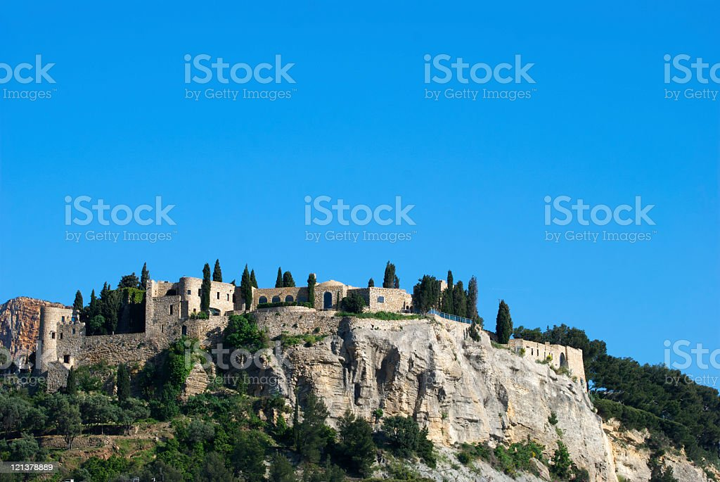 Cassis castle stock photo