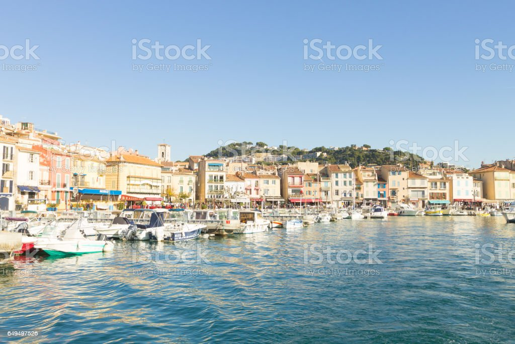 Cassis port day view, France stock photo