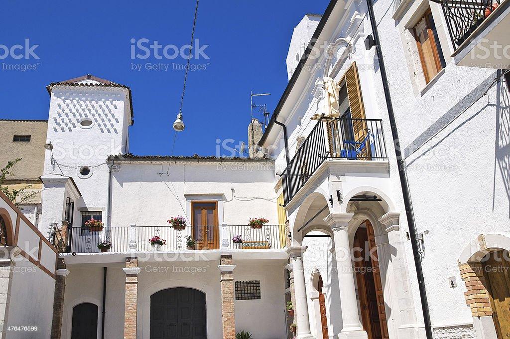 Cassitto palace. Alberona. Puglia. Italy. royalty-free stock photo