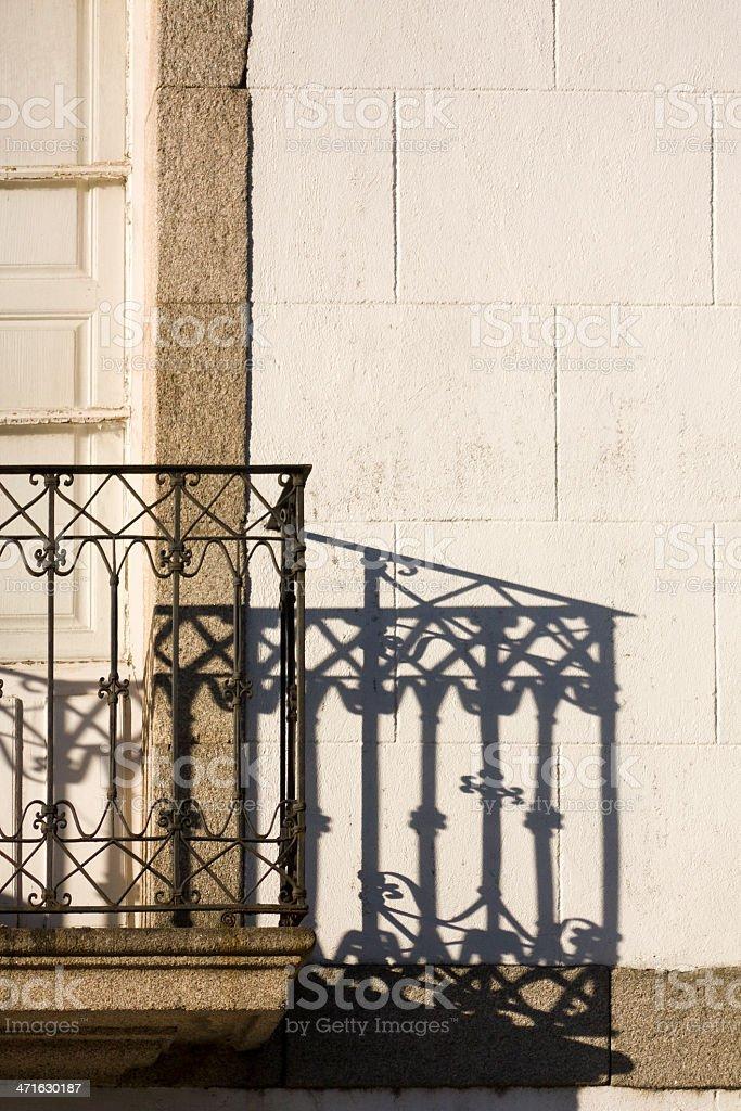 Cast iron balcony royalty-free stock photo