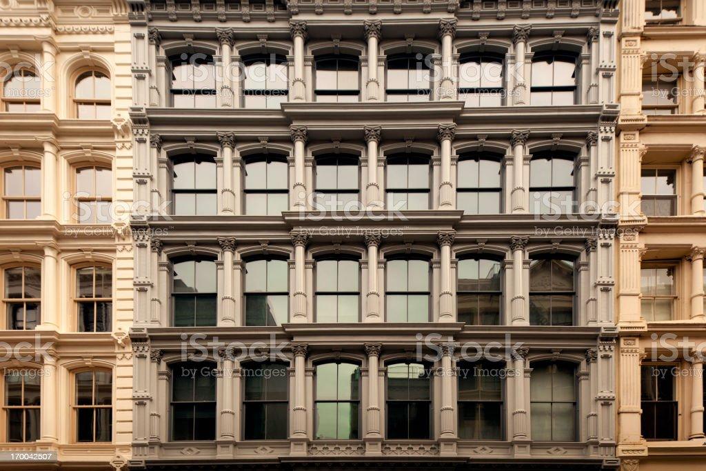 Cast Iron Buildings in Soho New York City stock photo