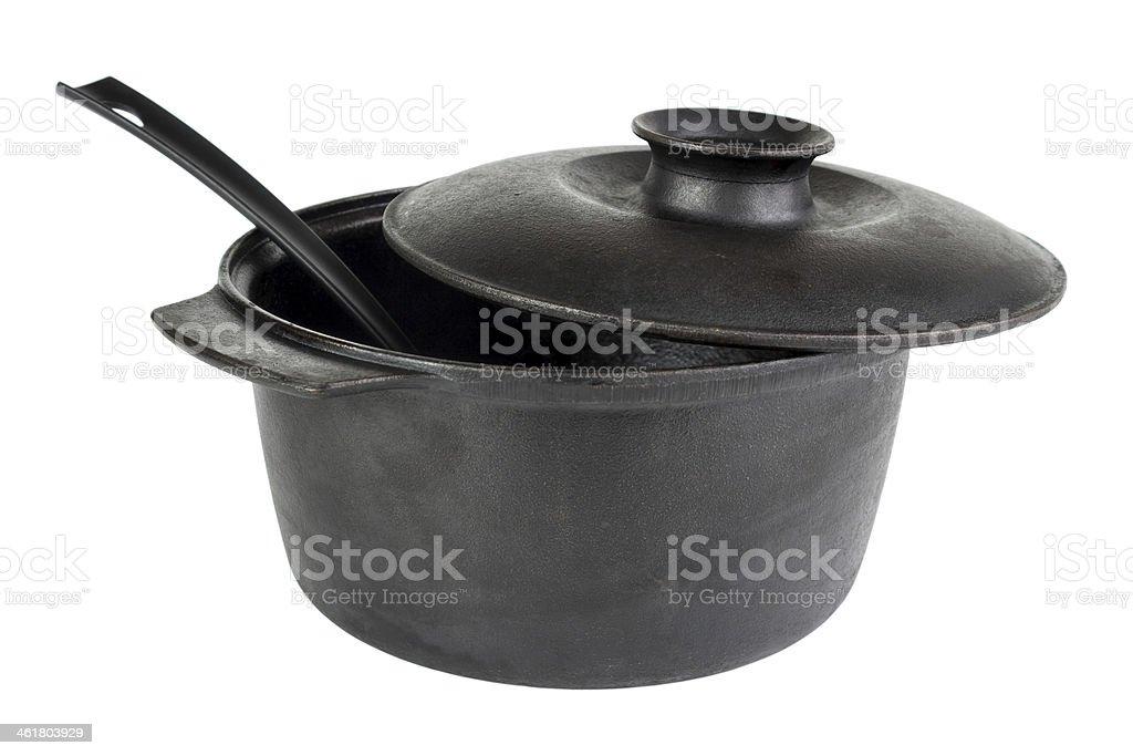 Cast iron cauldron royalty-free stock photo