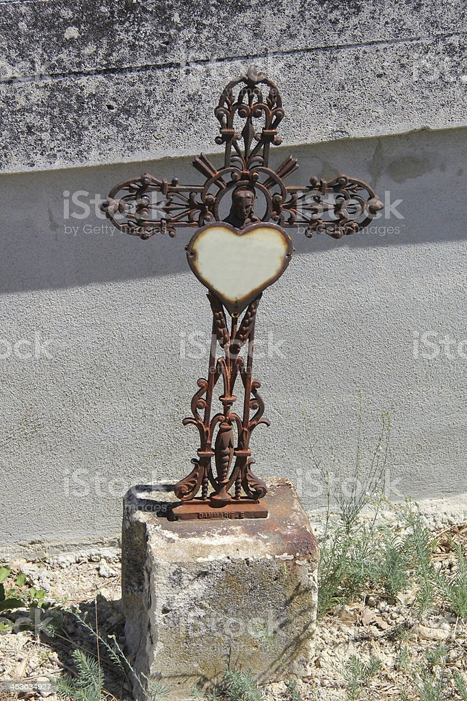 cast iron cross ornament royalty-free stock photo