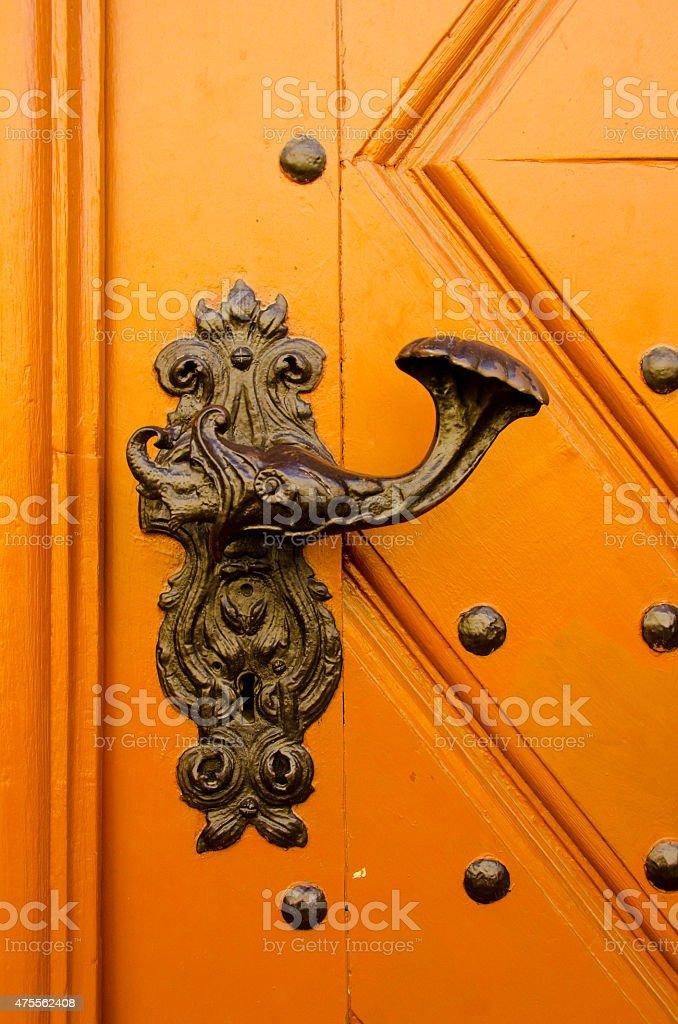 Cast Iron Door Knob stock photo