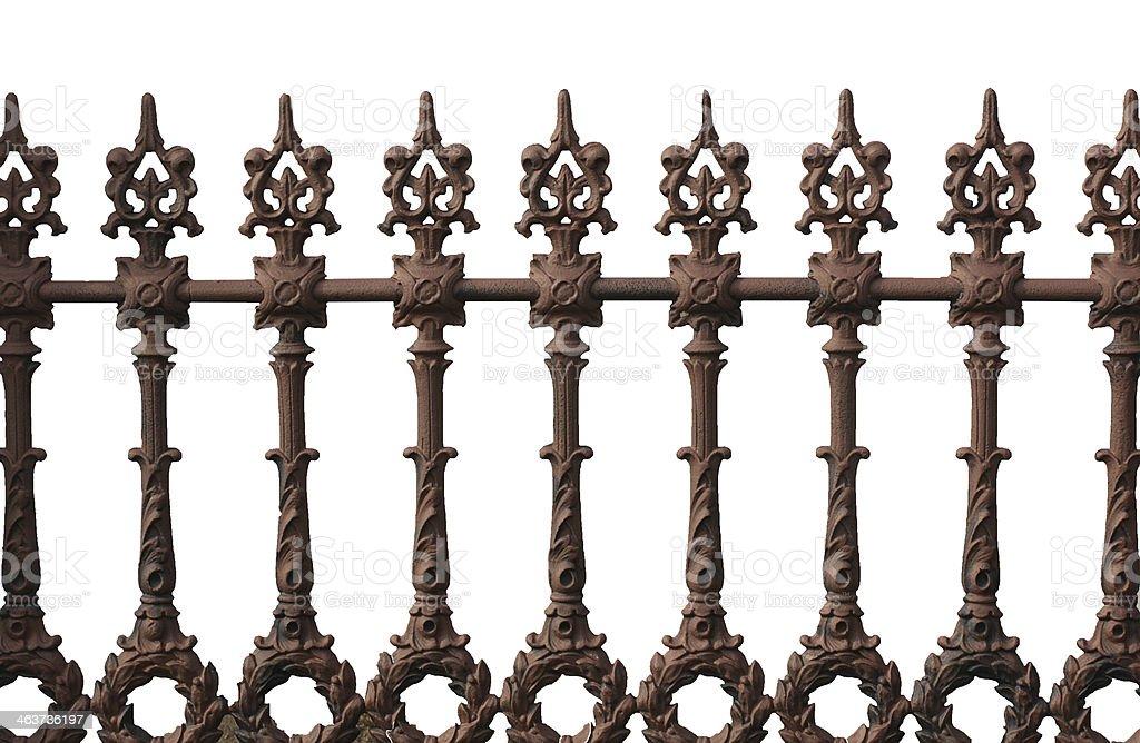 cast iron fence stock photo