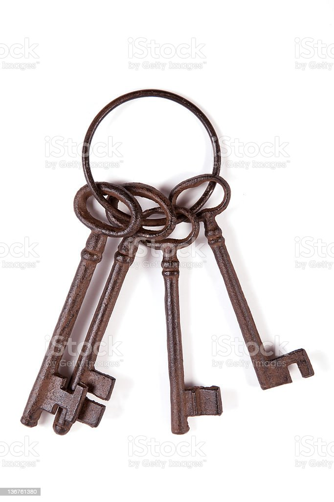 Cast iron keys stock photo