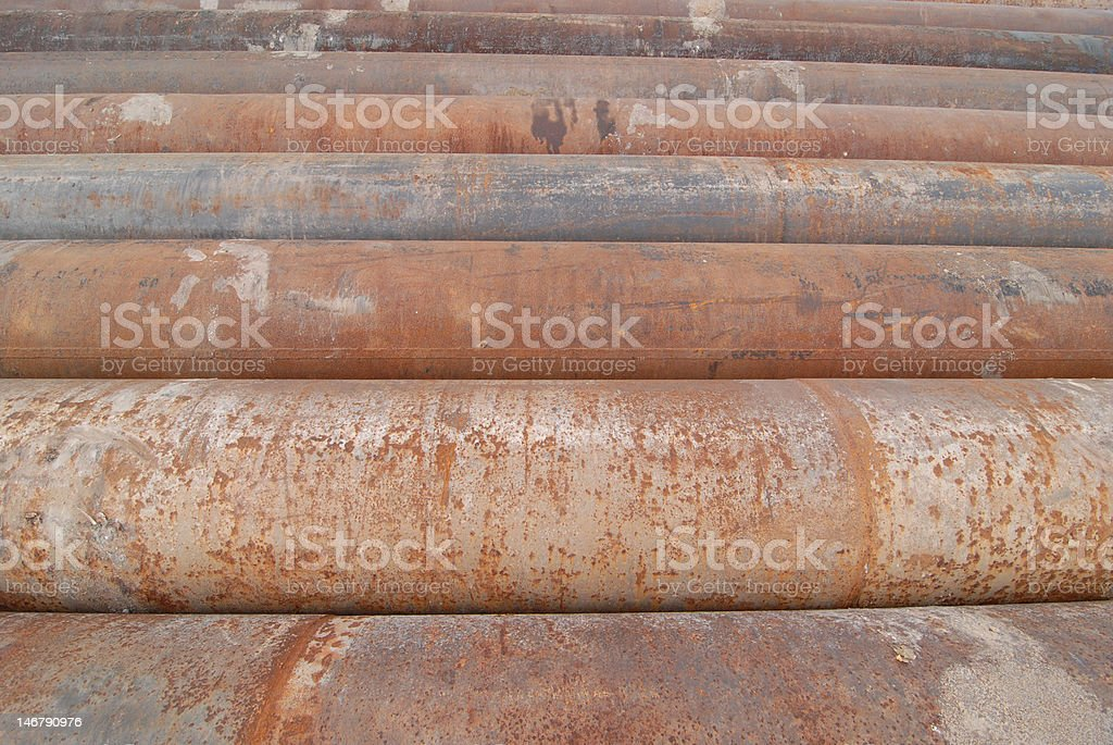 Cast Iron Pipes royalty-free stock photo