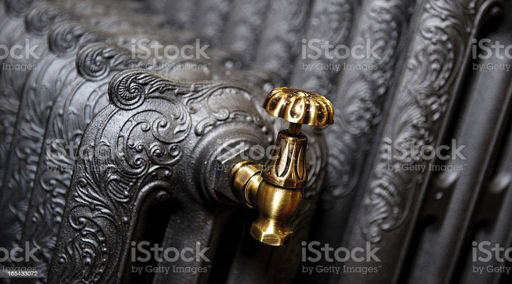 Cast iron radiator stock photo