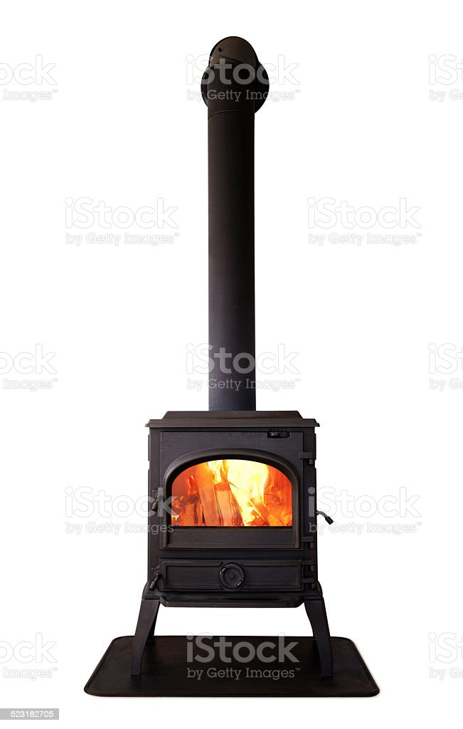 Cast iron stove stock photo