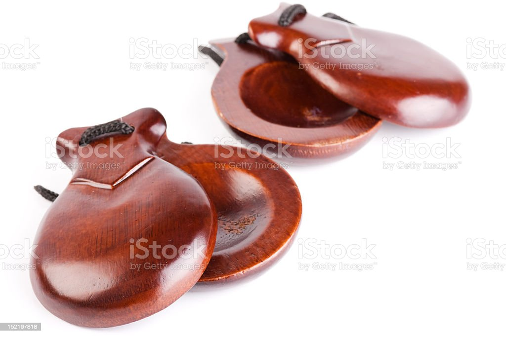 castanets stock photo