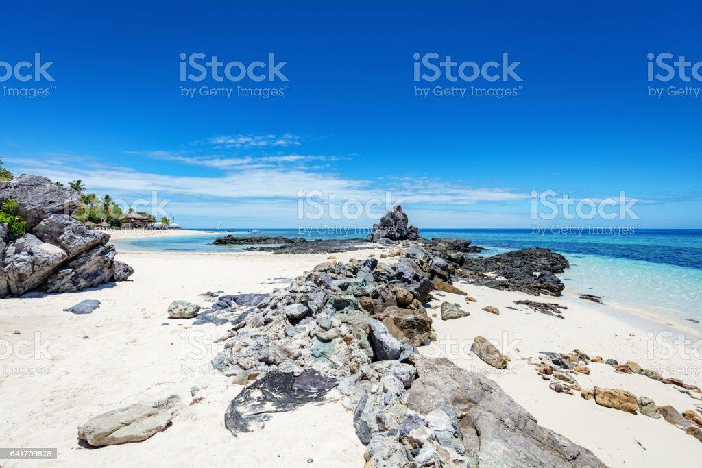 Castaway Island Fiji Natural Beach Mamanuca Islands Melanesia stock photo