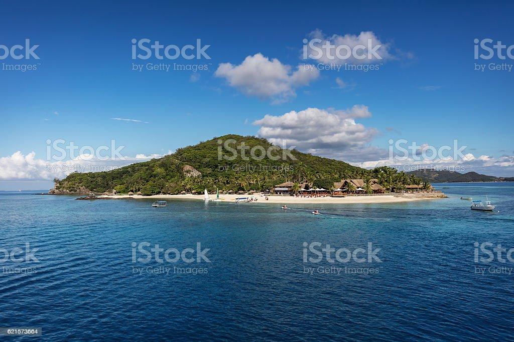 Castaway Island Qalito Fiji stock photo