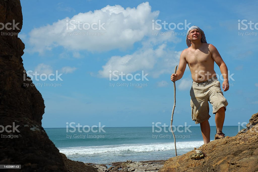 Castaway. stock photo