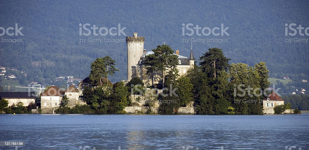 Castel on lake Annecy stock photo