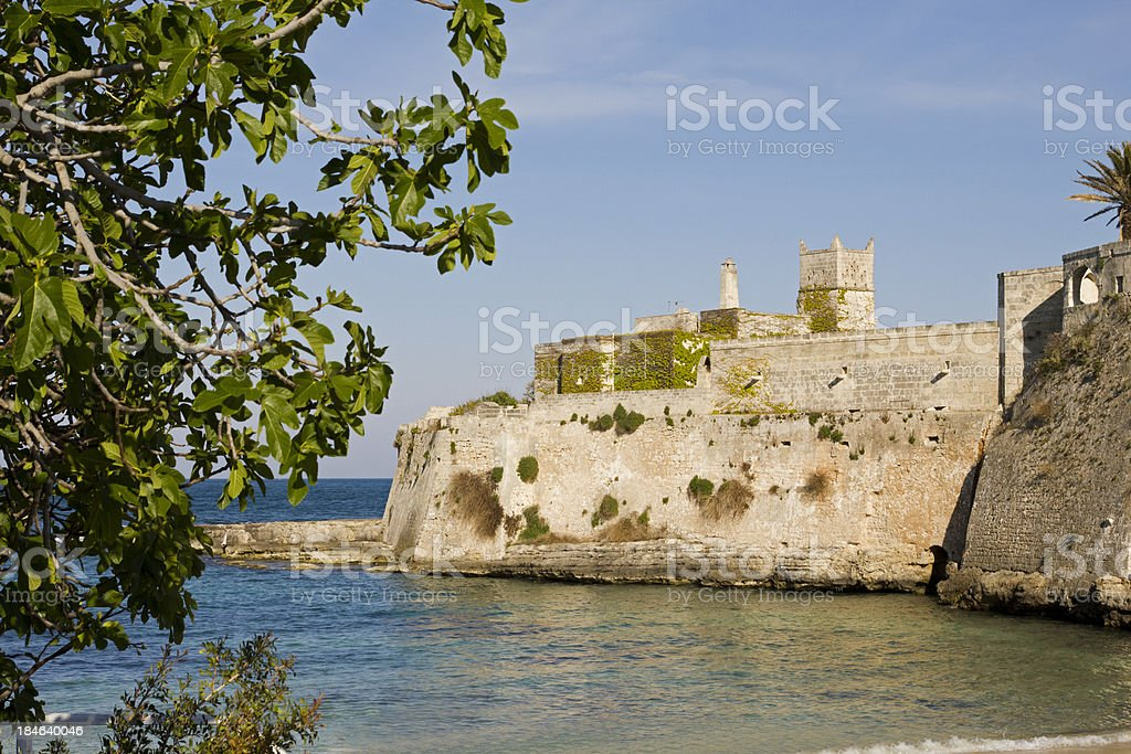 Castel on the rock stock photo