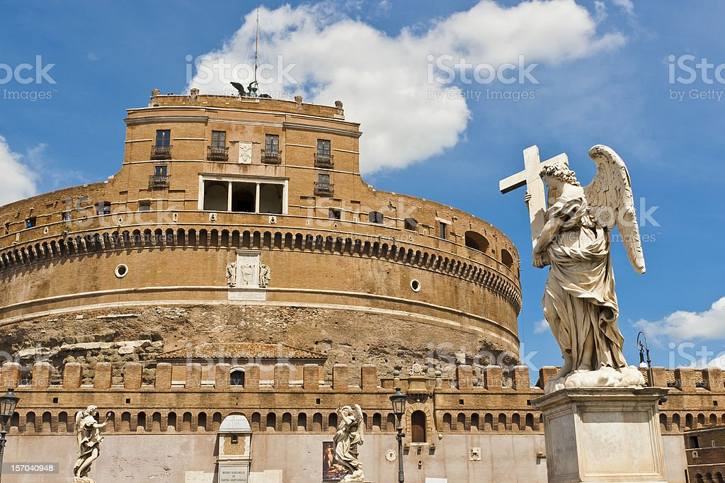 Castel Sant' Angelo  in Rome, Italy royalty-free stock photo