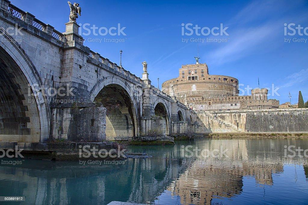Castel Sant' angelo, rome stock photo