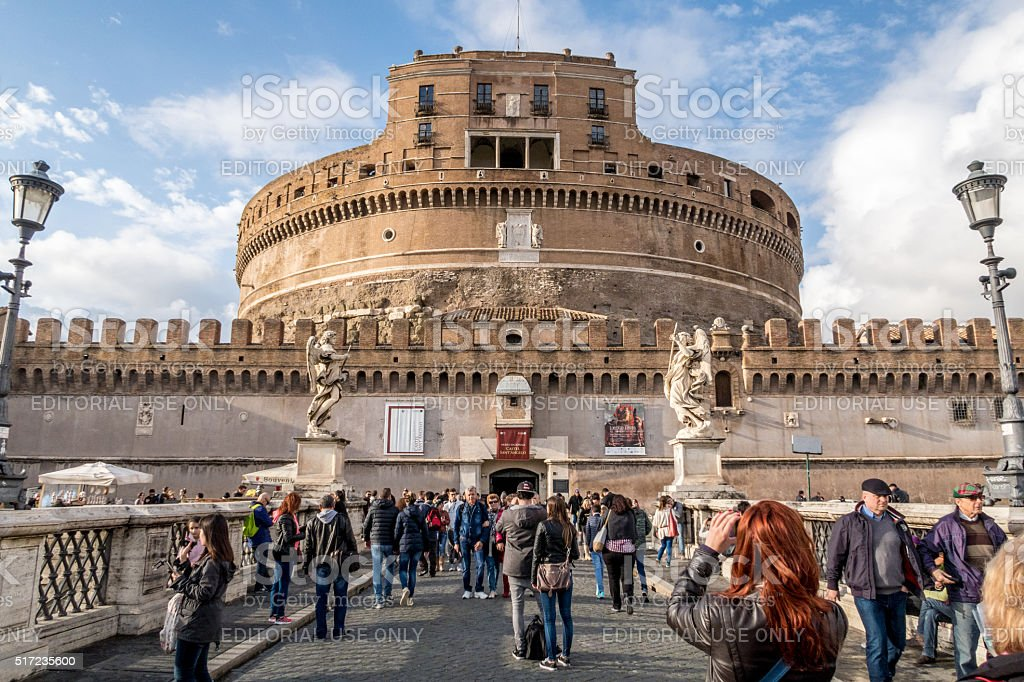 Castel Sant'Angelo 1. Scenes from Rome at Easter stock photo