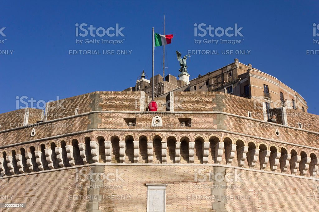 Castel Sant'Angelo frontal Facade stock photo
