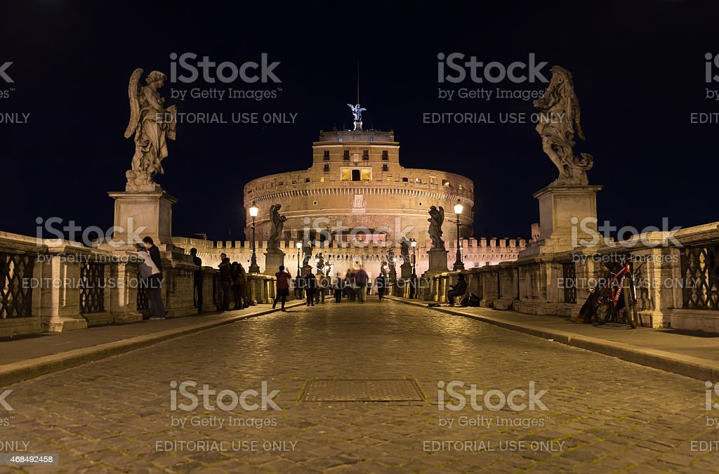 Castel Sant'Angelo (Castle of the Holy Angel) stock photo